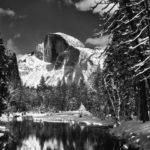 Ansel Adams - Half dome merced river Winter