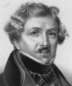 Portrait de Louis Jacques Mandé Daguerre, inventeur du daguerréotype